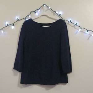 Talbots | Navy Confetti Sweater